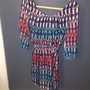 Charlotte Russe long sleeve dress with belt